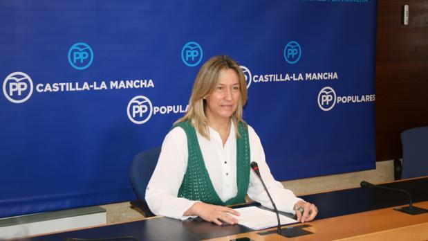 Ana Guarinos, este lunes, en Toledo