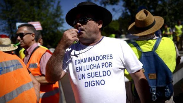 Imagen de archivo de una protesta de los examinadores