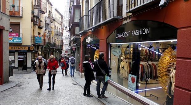 Calle Comercio, en el Casco Histórico de Toledo