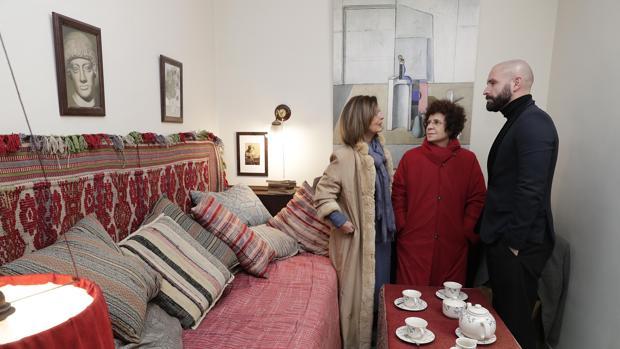 El consejero de Cultura, Jaime de los Santos, en la que fue la habitación de Lorca en la Residencia de Estudiantes