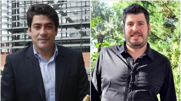 David Pérez, alcalde de Alcorcón, y Miguel Ángel González, concejal socialista