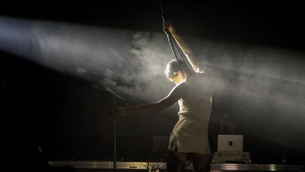 Arca, durante su actuación en el Sónar de 2017