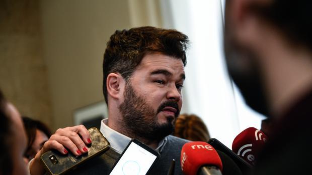 El portavoz adjunto en el Congreso de ERC, Gabriel Rufian, hace unas semanas en la Cámara Baja
