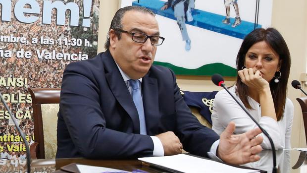 Imagen de Juan García Sentandreu y Cristina Seguí tomada en octubre de 2017