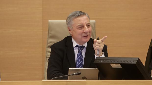 José Blanco, exministro de Fomento, durante su comparecencia