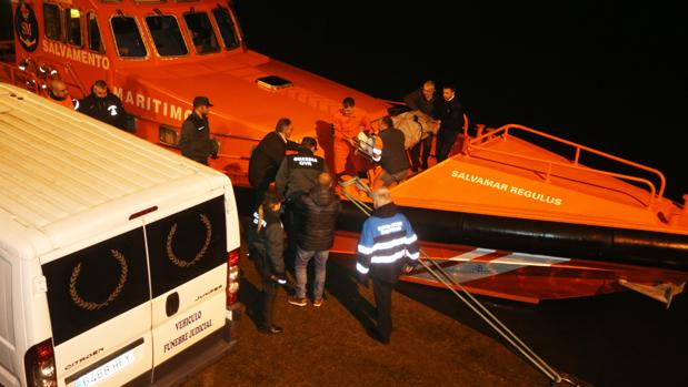 Lancha de Salvamento Marítimo tras su participación en el naufragio del pasado diciembre