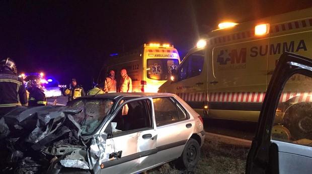 Uno de los vehículos implicados en el accidente