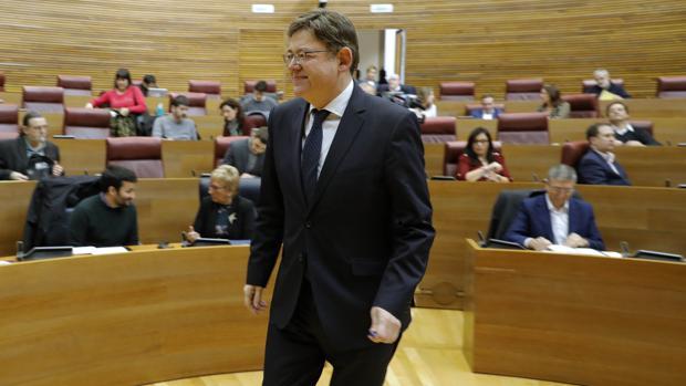 Ximo Puig, en las Cortes Valencianas