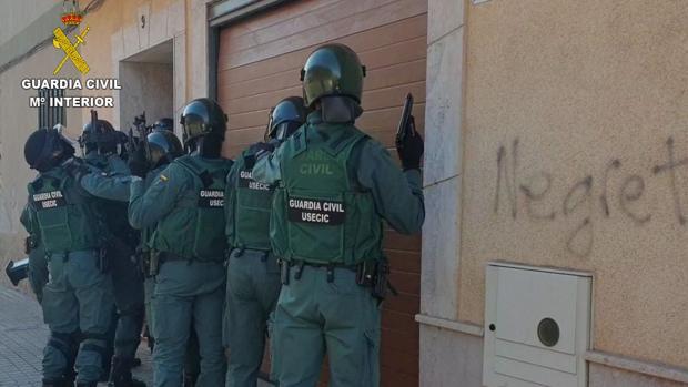 Unidad de la Guardia Civil que intervino en la operación 'Fabrilia'