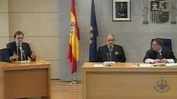 Mariano Rajoy, durante su declaración com testigo en el juicio del caso Gürtel, el 26 de julio de 2017