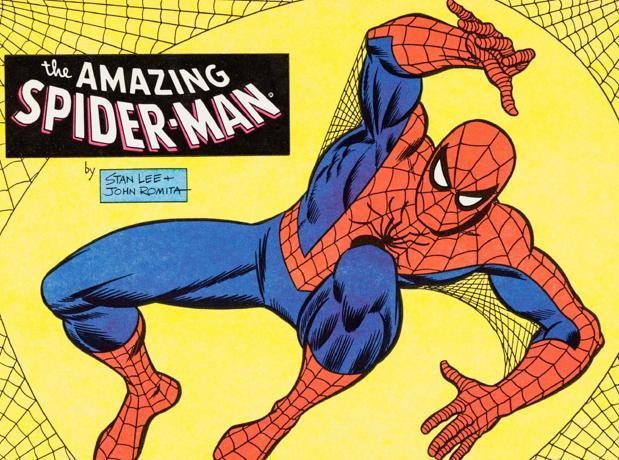 Spiderman, una de las criaturas más célebres de Lee, estará presente en la exposición