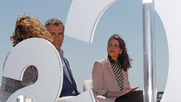 Toni Cantó e Inés Arrimadas, en el acto de Ciudadanos de hoy en Alicante