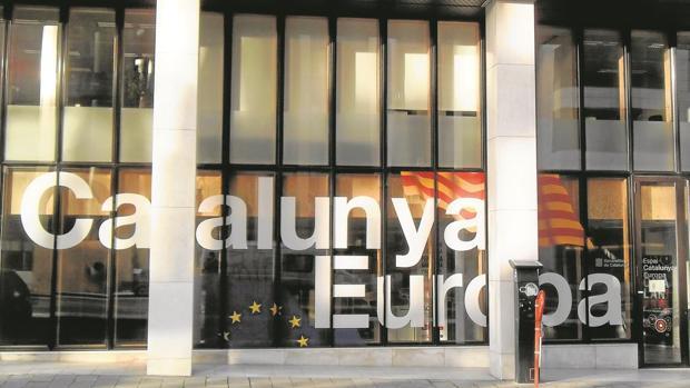 Una imagen de la «embajada» catalana en Bruselas