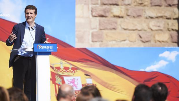 Pablo Casado, líder del PP, en un acto en Torrelavega la semana pasada