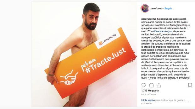 Elecciones Generales 2019 Un Concejal De Compromís Se Desnuda En