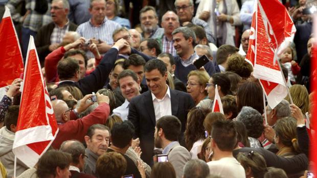 Pedro Sánchez, en un acto en Toledo