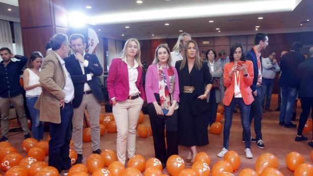 Ambiente en la sede de Ciudadanos Galicia tras conocerse los resultados electorales