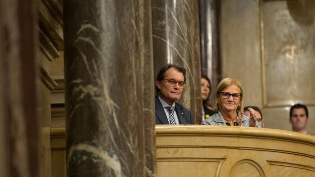 De Gispert, con Artur Mas, hace unos meses en el Parlament