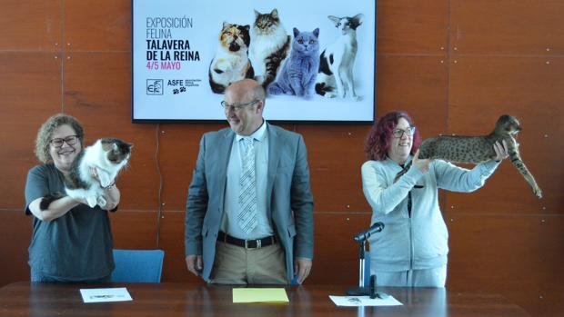 Rueda de prensa, este jueves, de la exposición que se celebrará en el recinto Talavera Ferial