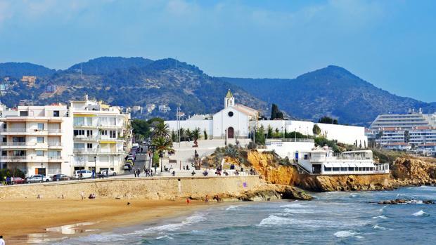 Playa de San Sebastián, en Sitges