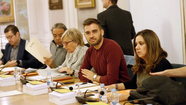 Fran Ferri, en una Junta de Portavoces