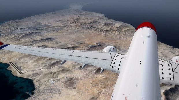 Foto de Fuerteventura desde la cola de un avión