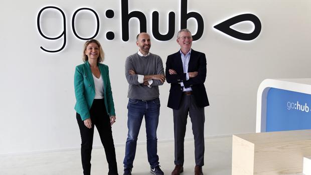 Directivos de Go Hub, la aceleradora de Global Omnium