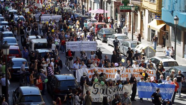 Imagen de una de las manifestaciones de la plataforma en 2014