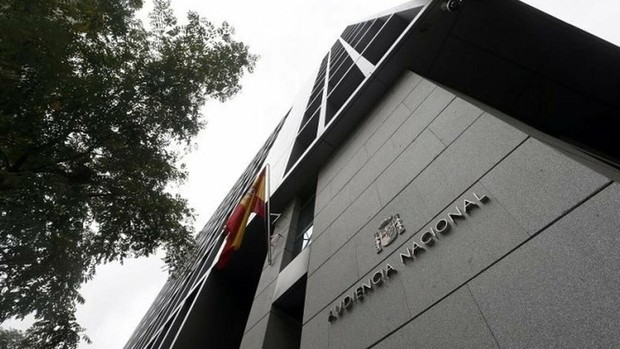 La fachada de la sede de la Audiencia Nacional, en Madrid