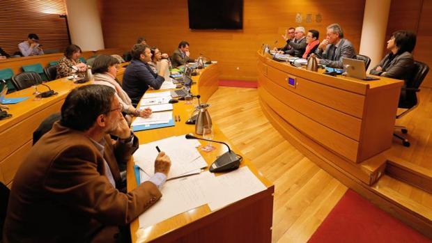 Comparecencia de dirigentes del PSPV en la comisión por la financiación del partido