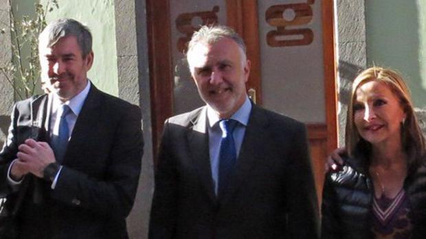 Fernando Clavijo, Ángel Víctor Torres y Australia Navarro