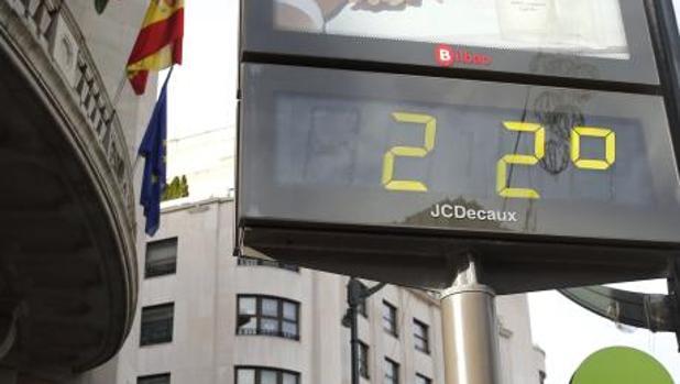 Mapa de temperatura en España el lunes