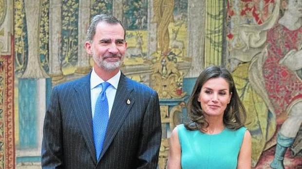 Los Reyes, ayer en el Palacio de El Pardo