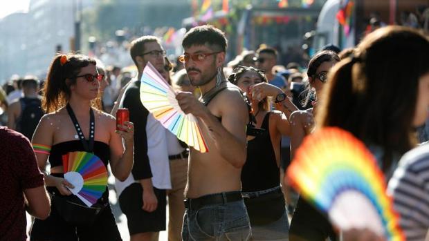 Un momento de la fiesta del Pride de Barcelona