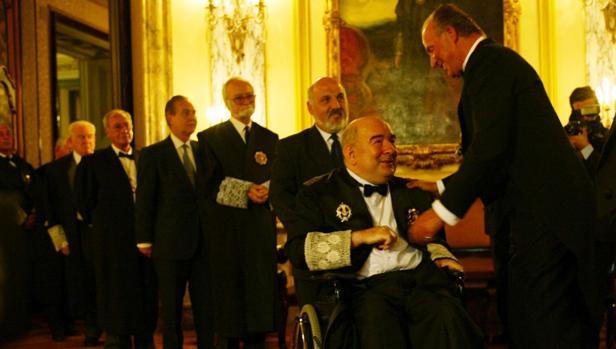 Inauguración del año judicial en 2002 con Fungairiño y el Rey Juan Carlos