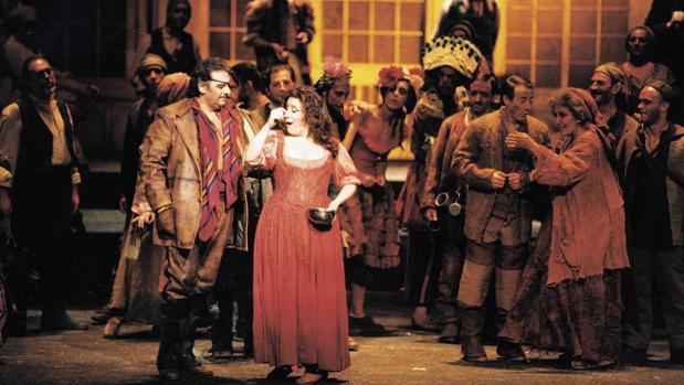 Plácido Domingo en «Divinas Palabras», en el Teatro Real (1997)