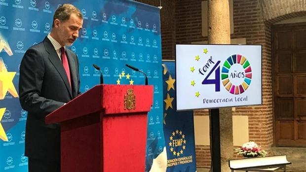 El Rey Felipe en el acto conmemorativo 40 aniversario de las primeras elecciones municipales de la democracia