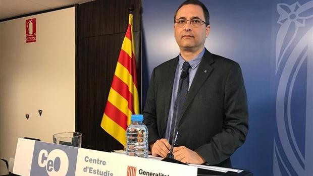 Jordi Argelaguet en una rueda de prensa del CEO