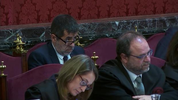 Jordi Sánchez, durante una de las sesiones del juicio en el Tribunal Supremo