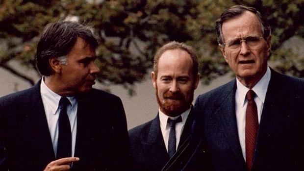 Felipe González con George H. W. Bush