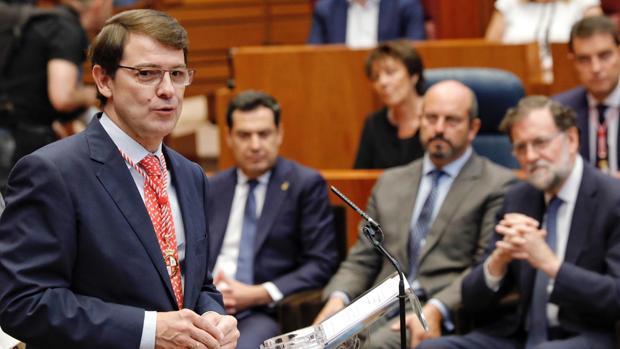 Acto de toma de posesión del presidente electo de la Junta de Castilla y León, Alfonso Fernández Mañueco