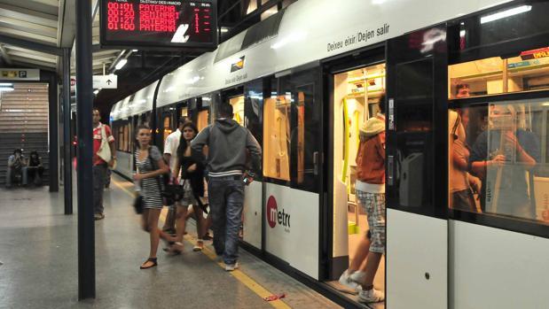 Imagen del metro en Valencia