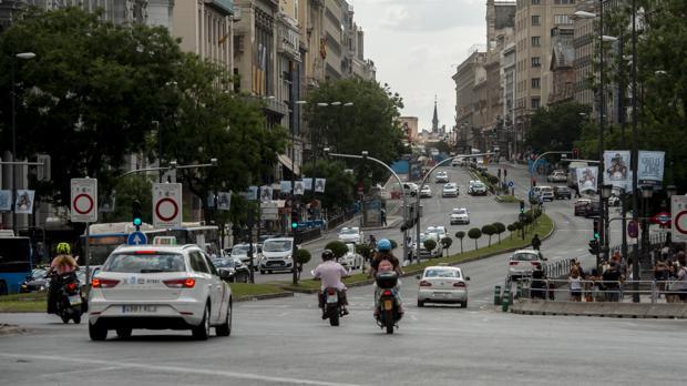 Acceso a Madrid Central desde la calle de Alcalá