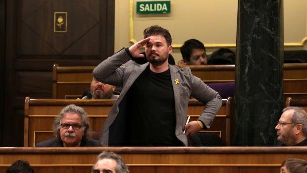 El portavoz de ERC en el Congerso, Gabriel Rufián, en una fotografía de hace unos meses