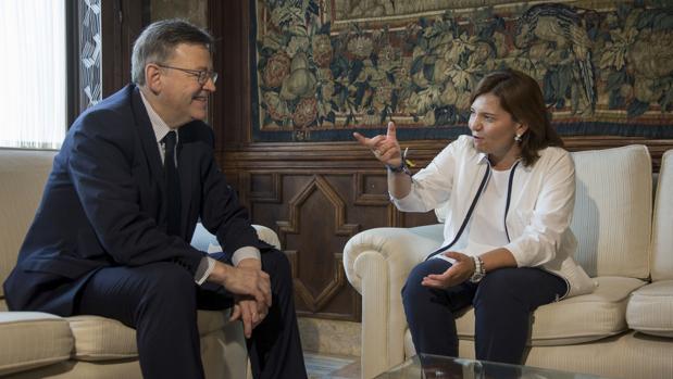 Ximo Puig e Isabel Bonig, en el Palau de la Generalitat