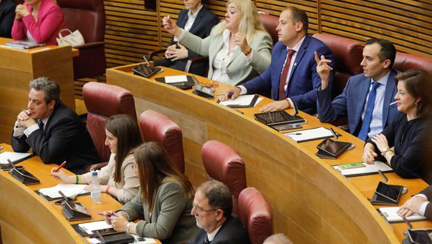 El grupo parlamentario de Vox en las Cortes Valencianas