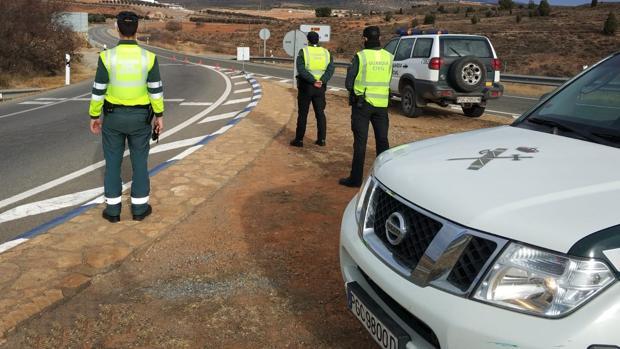 Los agentes de Tráfico estaban de servicio en la carretera N-234