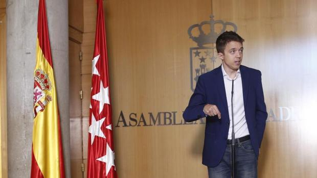 Iñigo Errejón en la Asamblea de Madrid