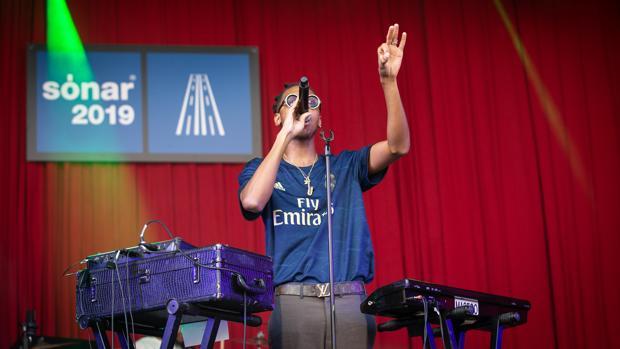 Masego, durante su actuación en el Sónar