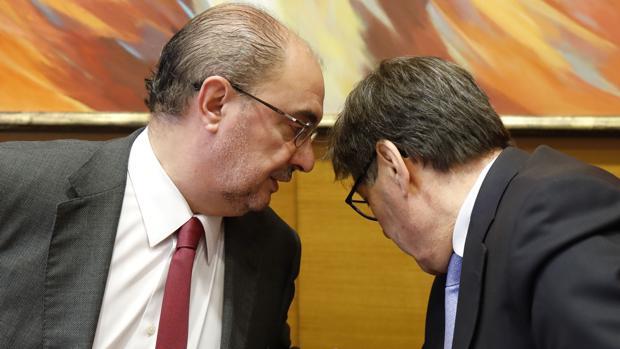 Javier Lambán y Arturo Aliaga, líderes regionales del PSOE y del PAR